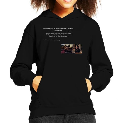 A.P.O.H Leonardo Da Vinci Flight Quote Kid's Hooded Sweatshirt