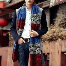 Twist Muti-color Lengthened Soft Warm Vintage Knitted Scarve