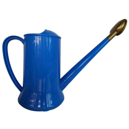 Plastic Colorful Long Spout Watering Pot Watering Can Blue