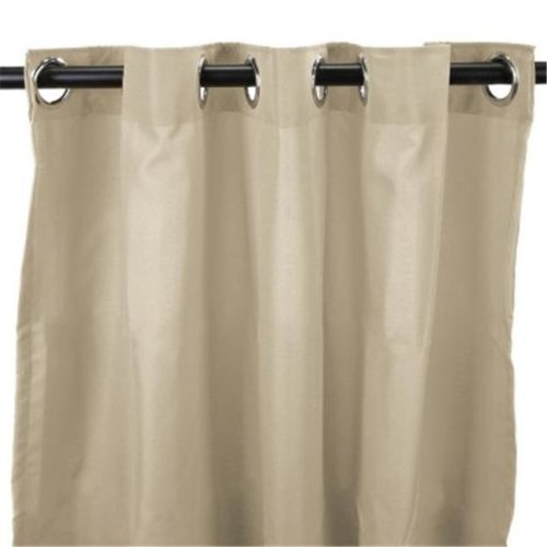 Jordan Manufacturing 3VOC5484-1328Q 544 in. x 84 in. Outdoor Curtain - Solid Linen