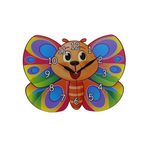 Obique Childrens Bedroom,Nursery Decor Butterfly Shaped MDF Wall Clock