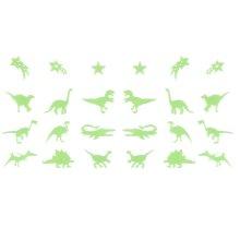 24pc Glow In The Dark Dinosaur Stickers | Stick-On Glow In The Dark Dinosaurs