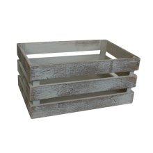 Large Vintage Slatted Wooden Crate   Rustic Wooden Storage Box