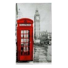 London Photographic Tea Towel Big Ben Red Telephone Box Bus Souvenir Gift