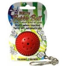Babble Talking Ball Bird Toy - Birdy Cage Parrot Grey Trainer -  babble ball birdy cage talking toy parrot grey trainer