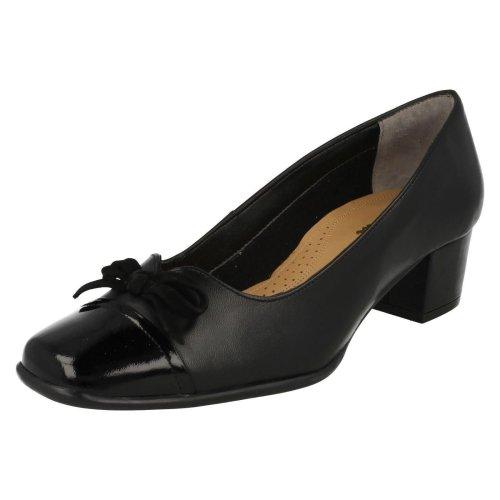 LADIES VAN DAL FILBY D FIT BLACK PATENT SLIP ON CLASSIC SMART FORMAL COURT SHOES