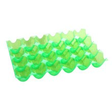 Set of 2 Kitchen Plastic Egg Storage Boxes Eggs Holder Eggs Trays 24 Grid Green
