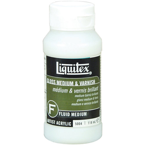 Liquitex Gloss Acrylic Fluid Medium & Varnish-4oz