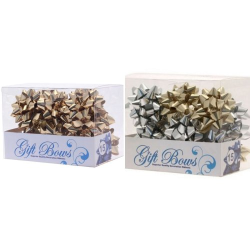 Apac Metallic Galaxy Gift Bows - 15 Pack