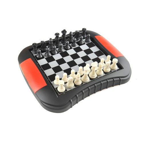 Quantum Abacus Chess & Draughts / Checkers 2-in-1, Magnetic Board Game, Size Medium: Dimensions 10.71 x 9.33 x 1.38 (27,2cm x 23,7cm x 3,5cm), Mod....