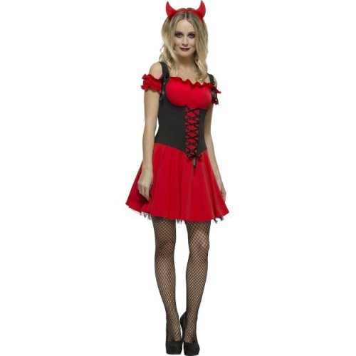 eeab3c8b41b Smiffy's Adult Women's Fever Wicked Devil Costume, Dress, Attached  Underskirt - devil dress fever fancy costume wicked halloween adult womens  sexy