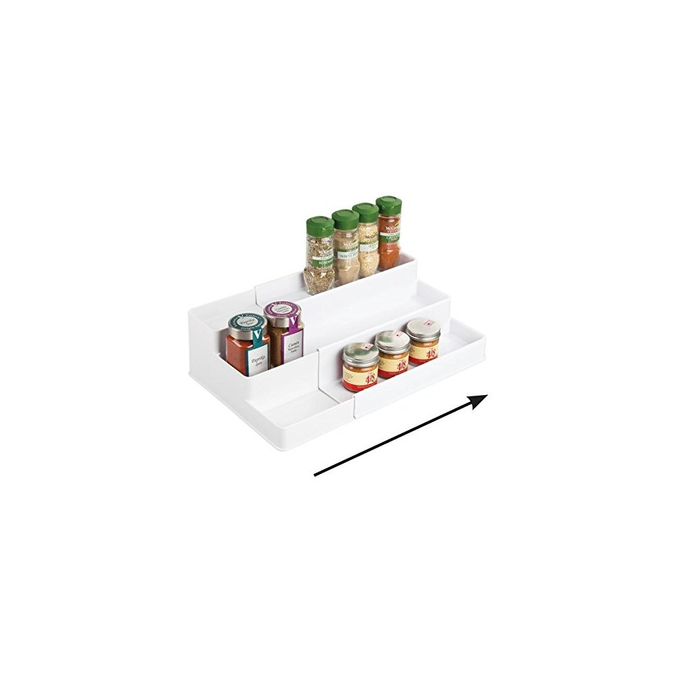 Mdesign Spice Rack For Kitchen Cabinet Storage Pull Out Storage
