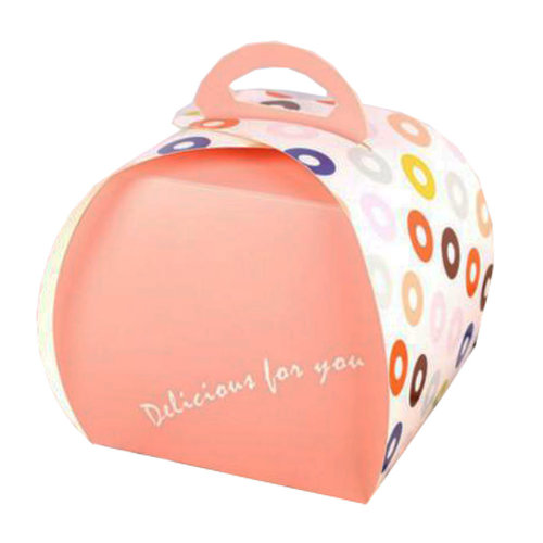 100PCS Cute Boxes With Handle For Pack Candies,Cake,Other Gift,in Party,Birthdays,and other Events,I