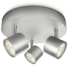 Philips myLiving LED Spotlight Star 3x4.5 W Grey 562434816