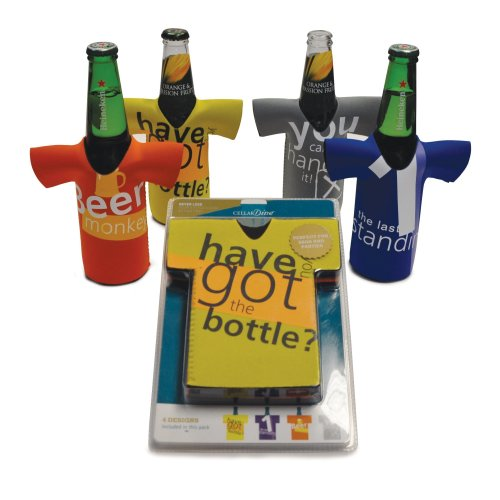Beer Bottle Chillers - Set of 4 funnny  Beer Cooler Shirts