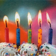 Paper+Design Pack of 20 Napkins / Serviettes - Five Wishes - 33cm x 33cm - 3ply