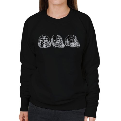 Original Stormtrooper Imperial TIE Pilot Helmet Abstract Women's Sweatshirt
