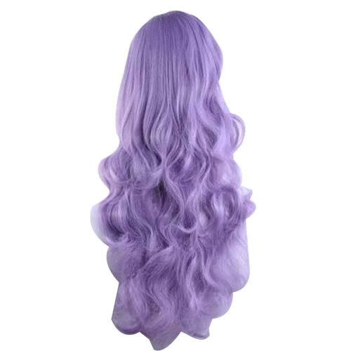 Cosplay Long Wavy Wig for Lolita Halloween Party Anime Fans [Purple]