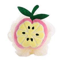 4 Pieces Cute Orange Soft Bath Sponge/Lovely Child Body Sponge(Diameter:10 cm)