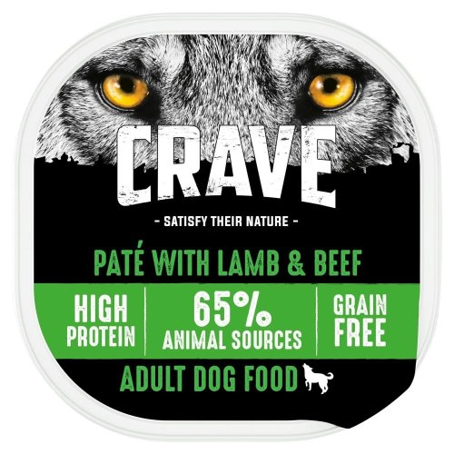 CRAVE Dog Tray With Lamb & Beef In Loaf 10x300g