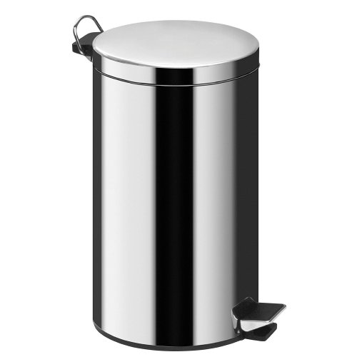 20 Ltr Mirror Polished Stainless Steel Pedal Bin
