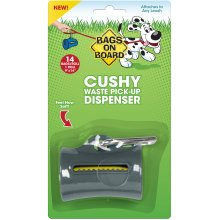 Bags On Board Cushy Dispenser W/14 Bags-Gray