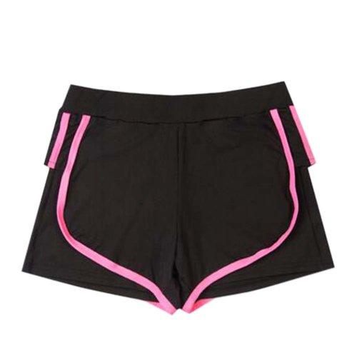 Women's Hot Elastic Waist Gym Pants Active Wear Lounge Shorts,#A 3