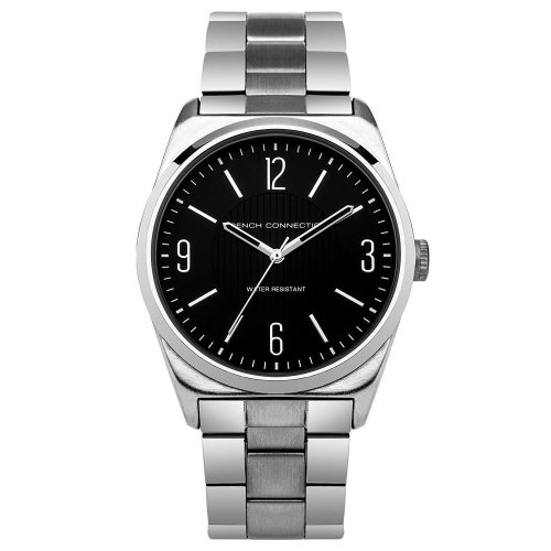 1a9baac034e French Connection Mens Wrist Watch Black Face Silver Strap SFC102BM on OnBuy