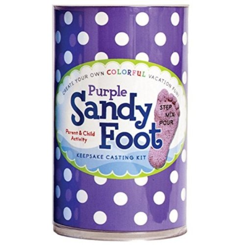 Spots and Ladybugs, LLC Sandy Foot Colorful Casting Kit - Purple Purple