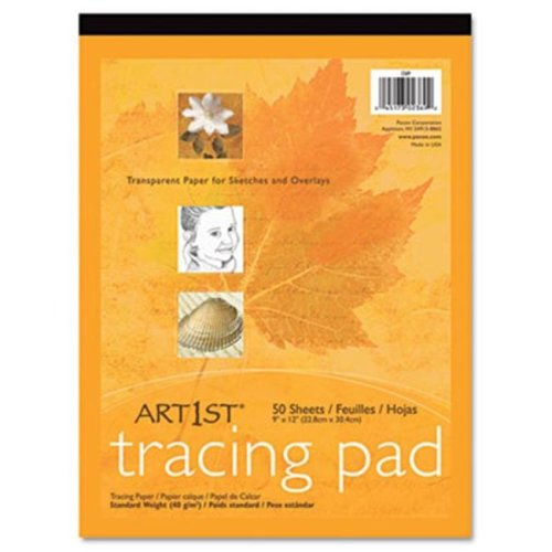 Pacon 2312 Art1st Parchment Tracing Paper  9 x 12  White  50 Sheets