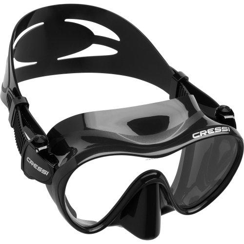 Cressi 1946 F1 Scuba and Snorkeling Frameless Mask - Black