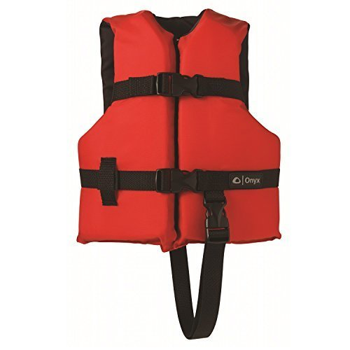 Onyx General Purpose Boating Vest for Children, 30-50 Pounds  20-25-Inches Chest, Red/Black