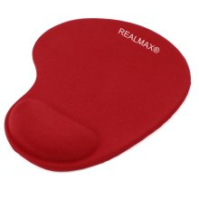 REALMAX® Mouse Pad with Wrist Rest Support  (Red)