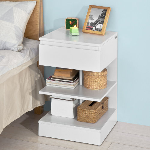SoBuy® FBT49-W, Bedside Table Night Stand Side Table End Table, White