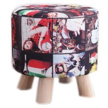 Creative Wood Linen for Shoe Stool Household Stool Round stool Children Adults Apply # 1