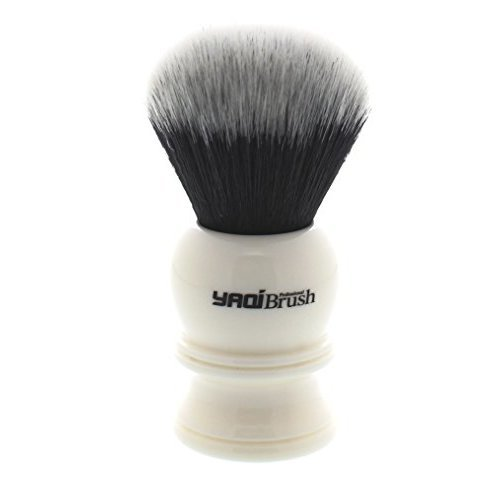 Yaqi White Handle Synthetic Shaving Brush R1729S2-30