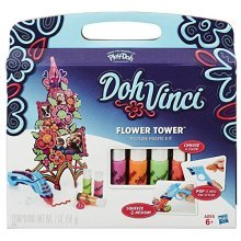 Play-Doh Toy Doh Vinci Flower Tower Picyure Frame Kit Playset, Includes 4 Colours