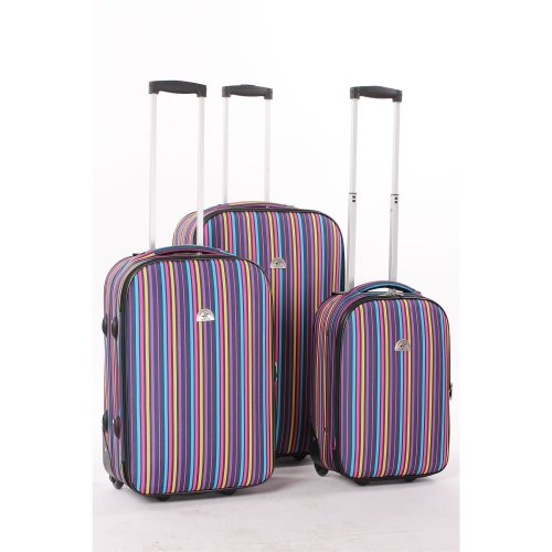 BEVERLY HILLS POLO CLUB LUGGAGE SET STRIPE
