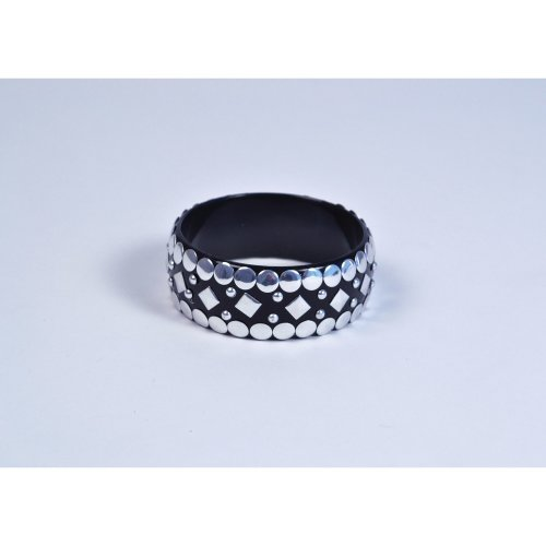 Black Punk Rock Stud Bangle