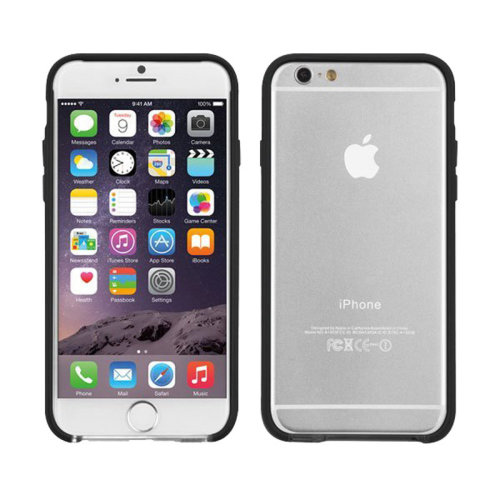 Clear/Black Tough Frame Bumper Case Cover for Apple iPhone 6/6S By Case-Mate