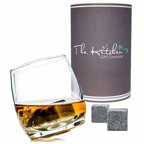 Rocking Whiskey Glass & Whiskey Stones Set - Whisky Gift Set