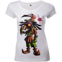 Legend Of Zelda Majoras Mask Womens Skinny T-Shirt XL White - TS221212ZEL-XL