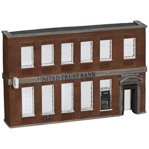 Bachmann Scene Scapes False Front Resin Building - United Trust Bank - HO Scale