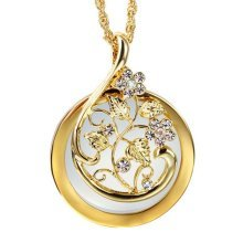 Fashion Magnifying Glass Necklace Clavicle Necklace Magnifier, Gold