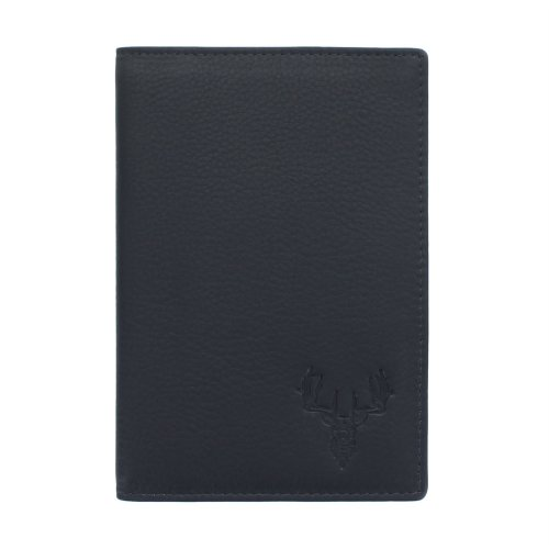 Mala Leather BRAEMAR Collection Leather Passport Holder - RFID Protected 217_7 Navy