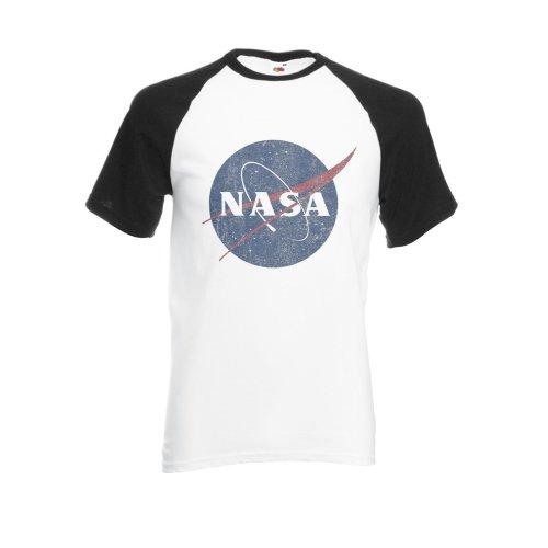 Nasa National Space Administration Logo Vintage Black/White Men Women Unisex Shirt Sleeve Baseball T Shirt