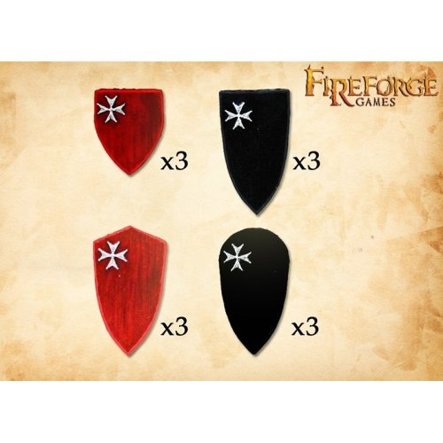 Fireforge Games Hospitaller Shields 2