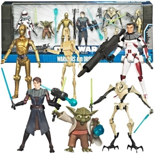 Star Wars The Clone Wars Warriors & Droids Figure Set