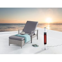 Electric patio heater - Free standing - Infrared - Built-in ashtray - VEZUVIO
