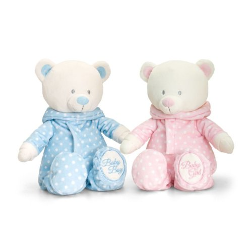 Baby Boys Girls First Teddy Bear Soft Toy in Romper Suit